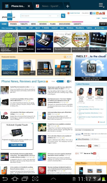 Internet browsing - Samsung Galaxy Tab 2 (7.0) Preview
