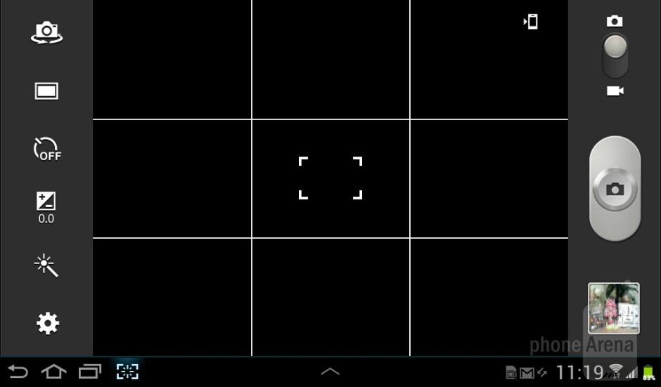 Camera interface - Samsung Galaxy Tab 2 (7.0) Preview