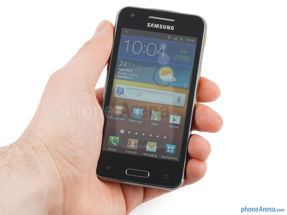 The Samsung Galaxy Beam feels and handles very well in the hand - Samsung Galaxy Beam Preview