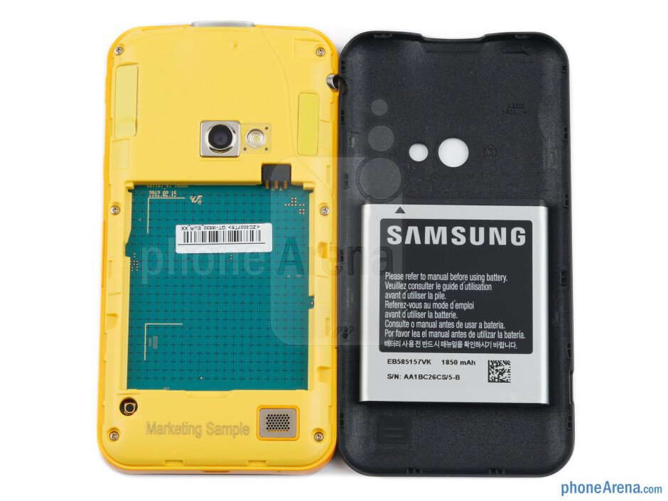 Back cover removed - Samsung Galaxy Beam Preview