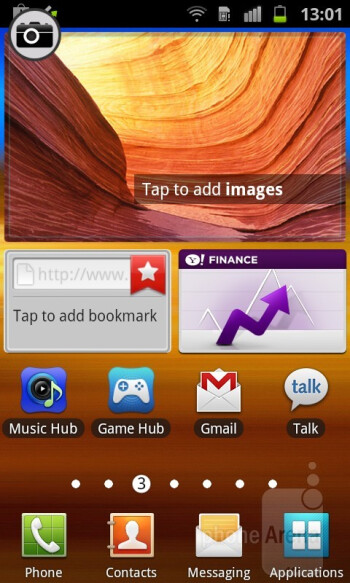 The TouchWiz 4.0 interface of the prototype Samsung Galaxy Beam unit - Samsung Galaxy Beam Preview