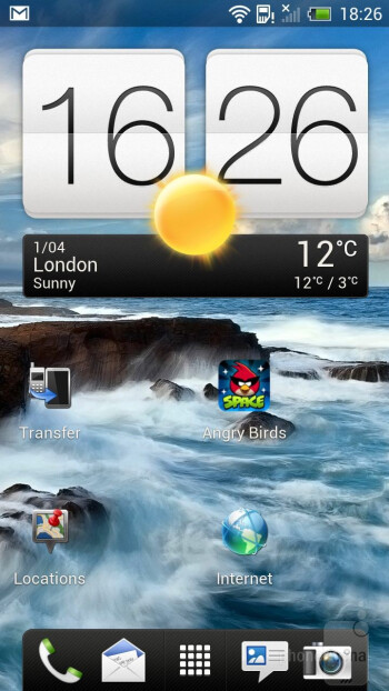 The interface of the HTC One X - HTC One X vs Apple iPhone 4S