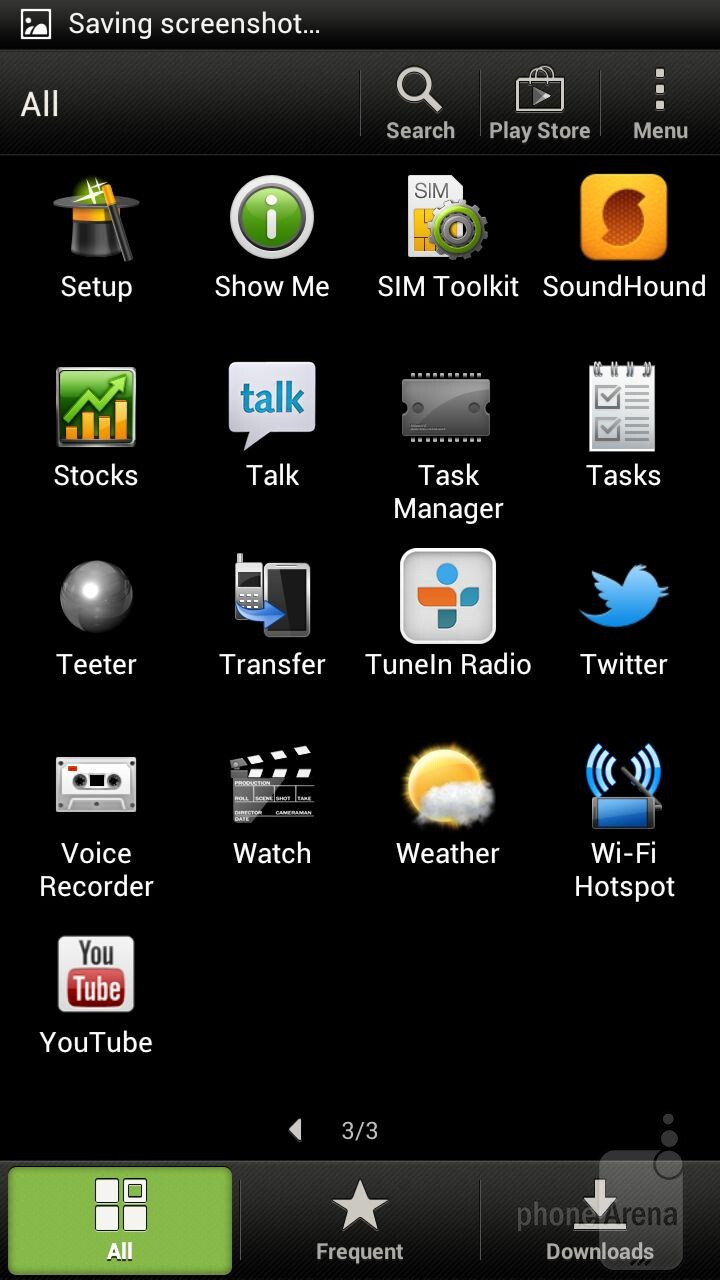 The main menu - HTC One X Review