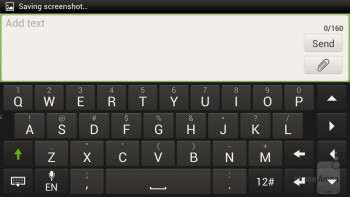 The on-screen keyboard of the HTC One X - Apple iPhone 5 vs HTC One X