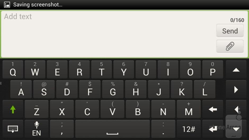 On-screen keyboard of the HTC One X - LG Optimus G vs HTC One X