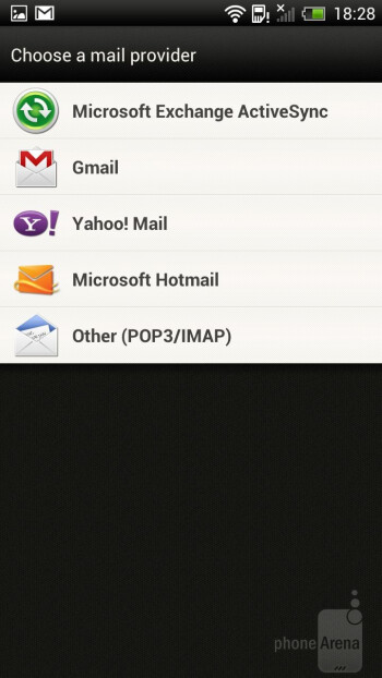 Email - Messaging on the HTC One X - HTC One X vs Samsung Galaxy Nexus