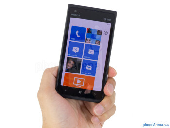 The Nokia Lumia 900 employs a unibody polycarbonate design that's clean looking - Nokia Lumia 900 Review