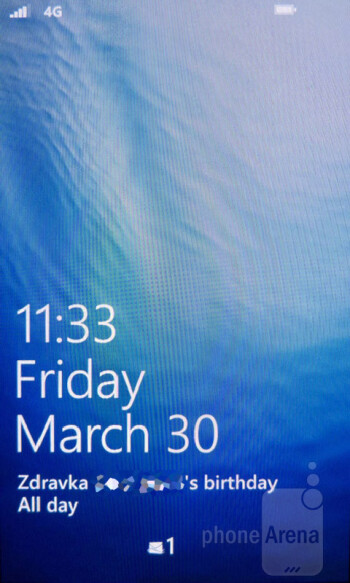 The interface of the Nokia Lumia 900 - Nokia Lumia 900 vs Samsung Galaxy Note LTE