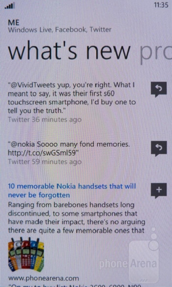 The People and Me Hubs - Nokia Lumia 900 Review