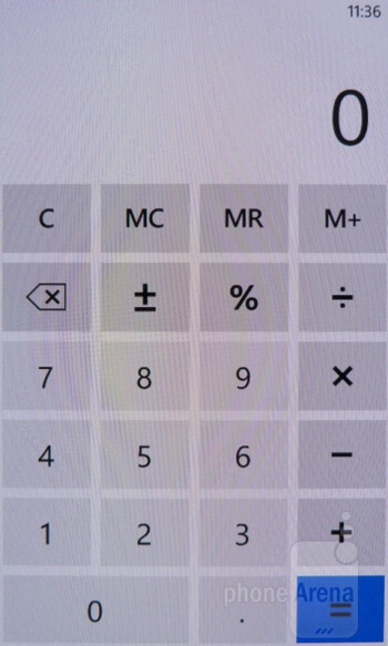 Calculator - Nokia Lumia 900 Review