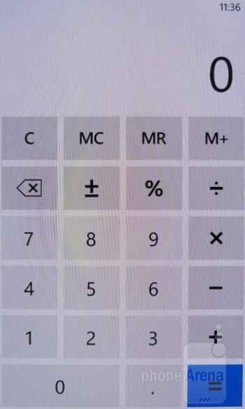 Calculator - Nokia Lumia 900 Review