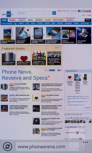 Web browsing with the Nokia Lumia 900 - Nokia Lumia 900 vs Apple iPhone 4S