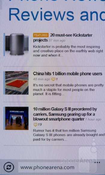 Web browsing with the Nokia Lumia 900 - Samsung Galaxy S III vs Nokia Lumia 900