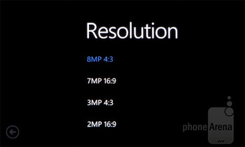 Camera interface of the Nokia Lumia 900 - Apple iPhone 5 vs Nokia Lumia 900