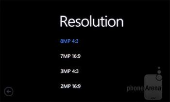 Camera interface - Nokia Lumia 900 Review