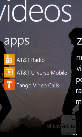 Zune takes care of all our music listening needs on the Nokia Lumia 900 - Samsung Galaxy S III vs Nokia Lumia 900