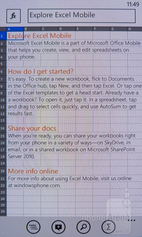 Microsoft Office - image from Nokia Lumia 900 Review