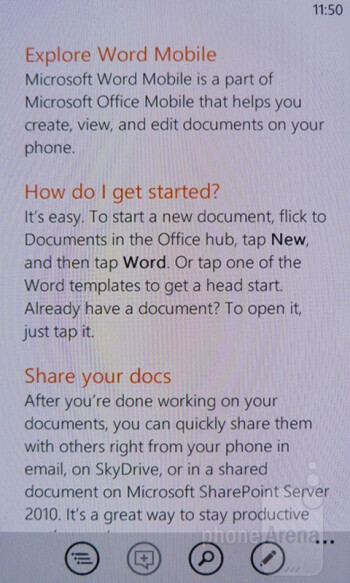 Microsoft Office - Nokia Lumia 900 Review