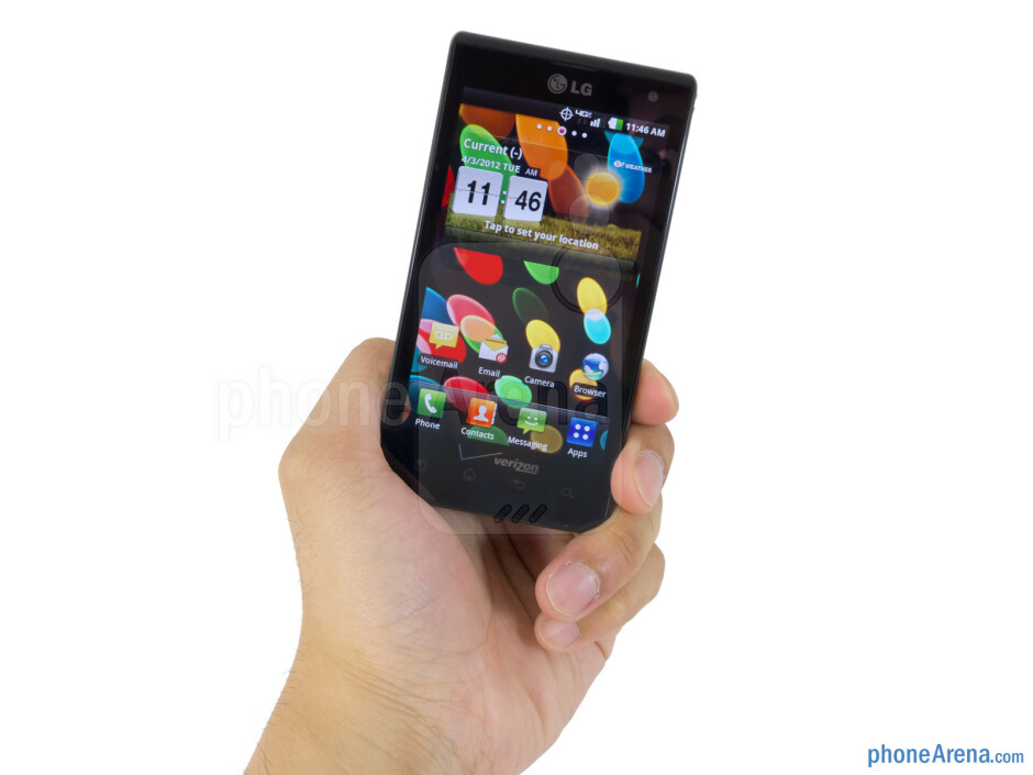 The LG Lucid has a solid construction and comfortable feel in the hand - LG Lucid Review