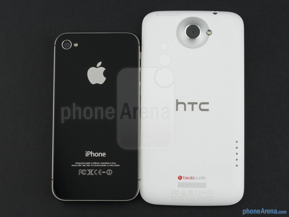 The HTC One X (right) vs the Apple iPhone 4S (left) - HTC One X vs Apple iPhone 4S