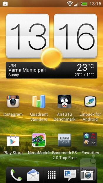 The HTC  One S has HTC Sense 4.0 over Android Ice Cream Sandwich - HTC One S vs Samsung Galaxy S II