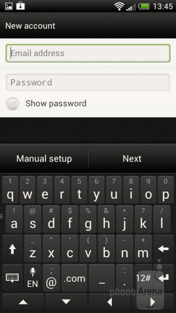 On-screen keyboard of the HTC One S - HTC One S vs Samsung Galaxy S II