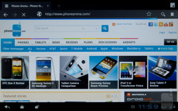 The web browser - ZTE Optik Review