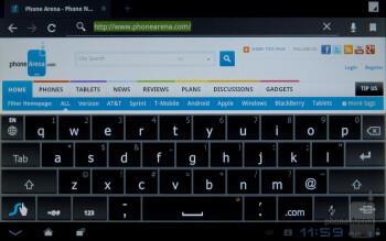 On-screen keyboard - ZTE Optik Review