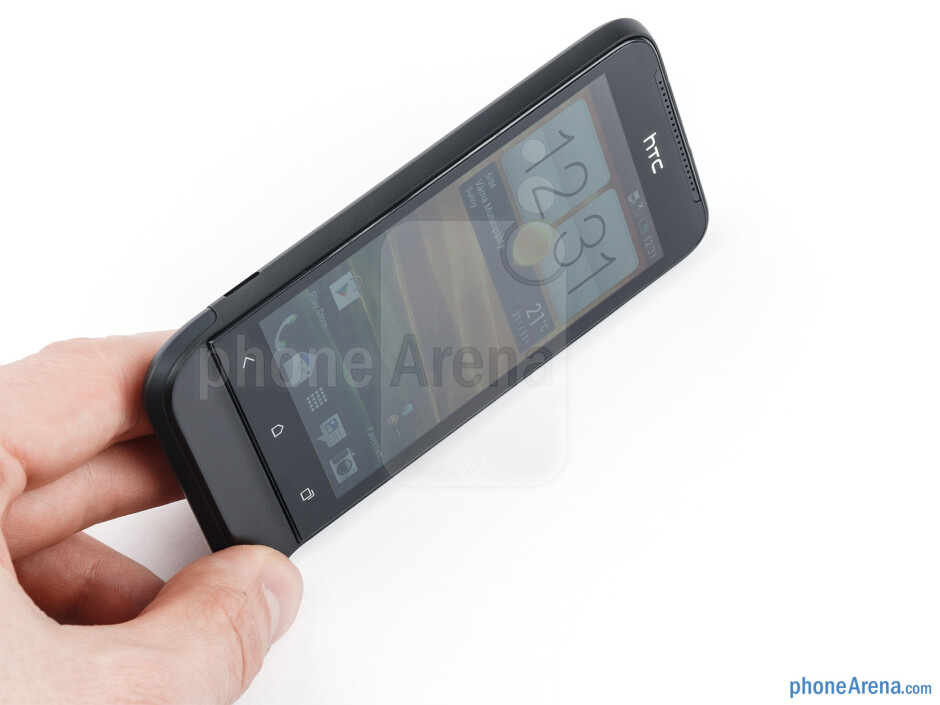 Due to its compact dimensions, the HTC One V fits comfortably in the palm - HTC One V Review