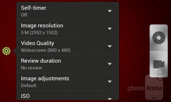 Camera interface - HTC One V Review