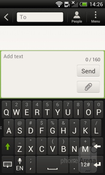 Virtual on-screen keyboard - HTC One V Review