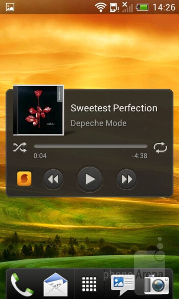 The music player on the HTC One V is simple and elegant - HTC One V Review