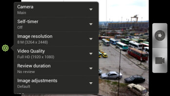 Camera interface - HTC One S Review