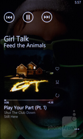 Playing music on the HTC Titan II - HTC Titan II Review