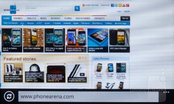 The web browser of the HTC Titan II - Nokia Lumia 900 vs HTC Titan II
