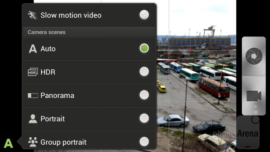 The camera interface is full of features - HTC One X vs HTC One S