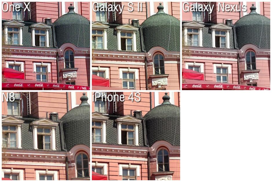 100% Crops - Camera comparison: One X vs Galaxy S II vs Nexus vs N8 vs iPhone 4S