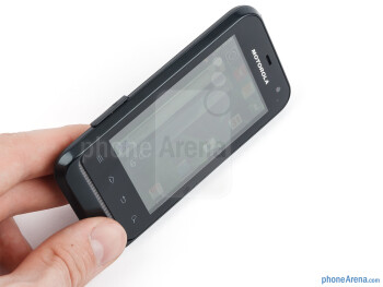 The Motorola DEFY MINI fits nicely in the hand - Motorola DEFY MINI Review