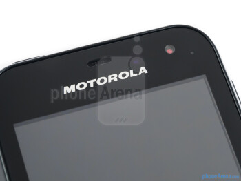 The notification light - The Motorola DEFY MINI fits nicely in the hand - Motorola DEFY MINI Review