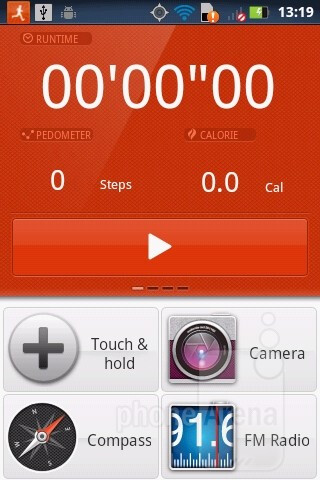 The Dashboard application - Motorola DEFY MINI Review