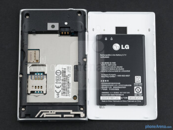Battery compartment - LG Optimus L3 Review
