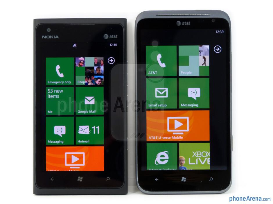 The Nokia Lumia 900 (left) and the HTC Titan II (right) - Nokia Lumia 900 vs HTC Titan II