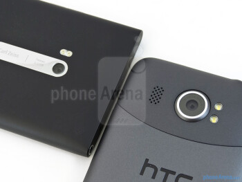 Rear cameras - The Nokia Lumia 900 (left) and the HTC Titan II (right) - Nokia Lumia 900 vs HTC Titan II