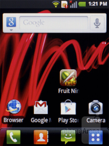 The LG Optimus L3 runs Android 2.3 Gingerbread, skinned with LG's Optimus UI - LG Optimus L3 Review