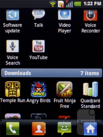 Main menu - LG Optimus L3 Review