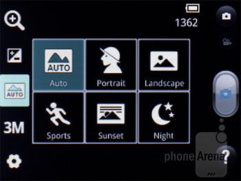 Camera interface - LG Optimus L3 Review