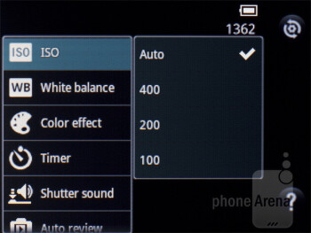 Camera interface - LG Optimus L3 Review