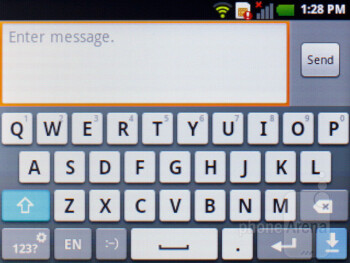 Virtual keyboard - LG Optimus L3 Review