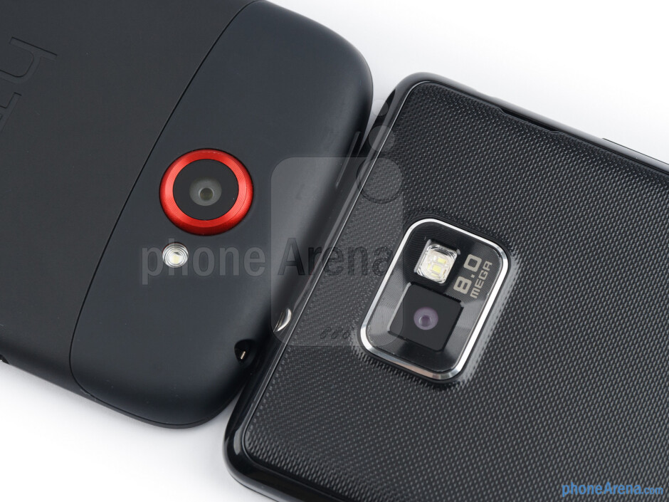 Rear cameras - The HTC One S (left) and the Samsung Galaxy S II (right) - HTC One S vs Samsung Galaxy S II
