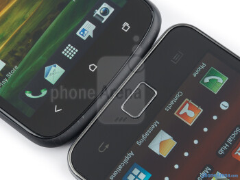 Android buttons - The HTC One S (left) and the Samsung Galaxy S II (right) - HTC One S vs Samsung Galaxy S II